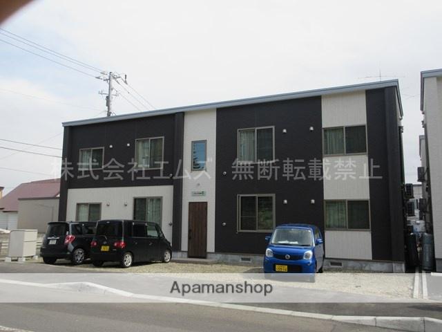 北海道北広島市、北広島駅徒歩16分の新築 2階建の賃貸アパート
