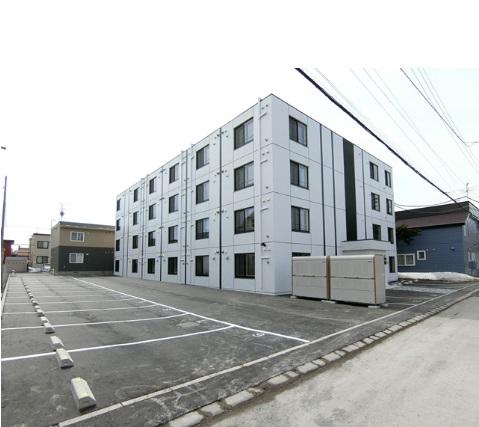 北海道恵庭市、恵庭駅徒歩6分の新築 4階建の賃貸マンション