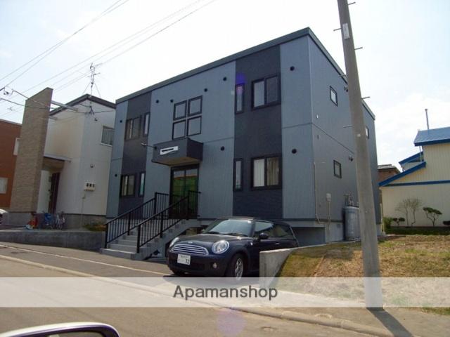 北海道北広島市、北広島駅中央バスバス20分大曲下車後徒歩4分の築7年 2階建の賃貸アパート