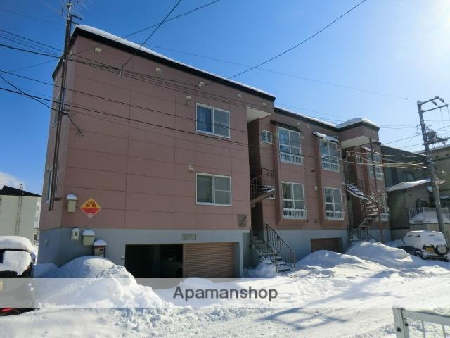 北海道札幌市白石区、平和駅徒歩30分の築24年 3階建の賃貸アパート