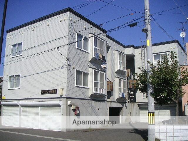 北海道札幌市白石区、白石駅徒歩15分の築24年 3階建の賃貸アパート