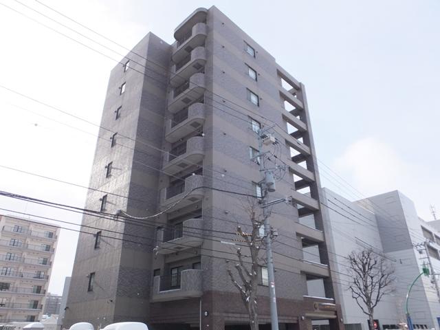 北海道札幌市中央区、バスセンター前駅徒歩6分の築13年 9階建の賃貸マンション