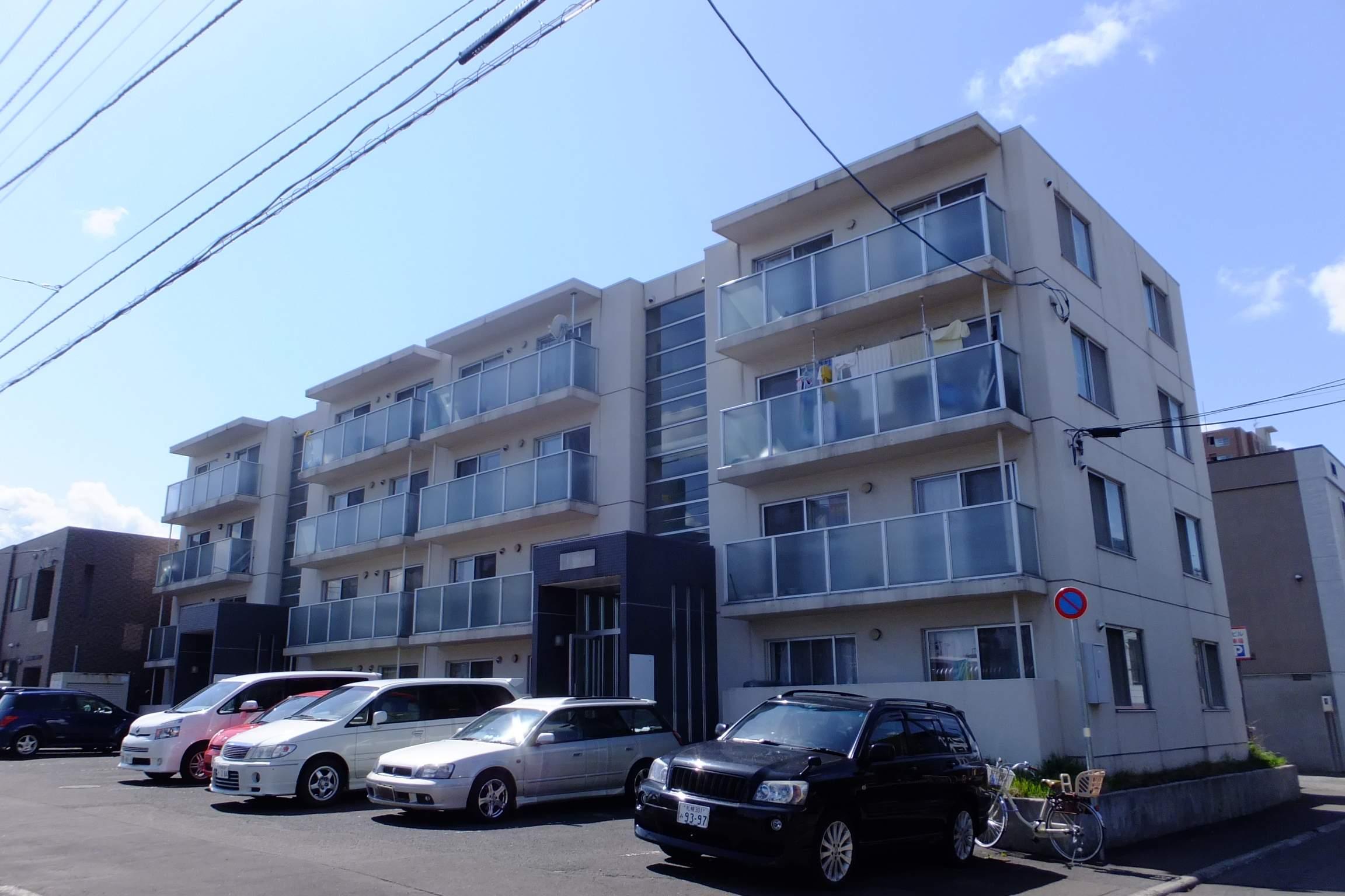 北海道札幌市豊平区、白石駅徒歩13分の築20年 4階建の賃貸マンション