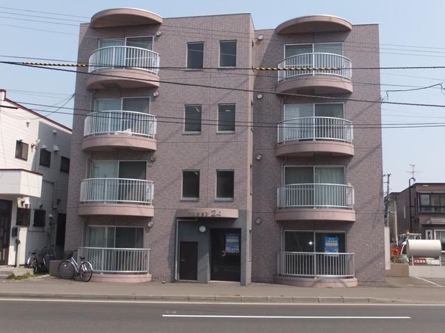 北海道札幌市白石区、苗穂駅徒歩20分の築14年 4階建の賃貸マンション