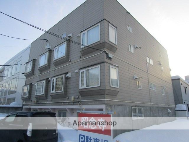 北海道札幌市白石区、苗穂駅徒歩20分の築30年 3階建の賃貸アパート