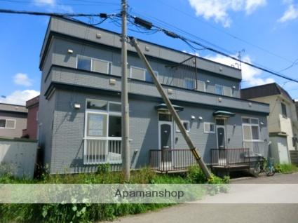 北海道札幌市南区、真駒内駅じょうてつバスバス17分川沿12−4下車後徒歩1分の築21年 2階建の賃貸テラスハウス
