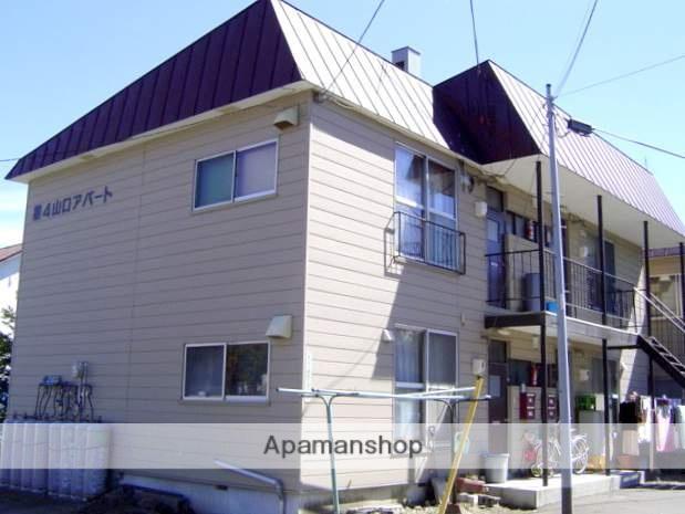 北海道札幌市南区、真駒内駅中央バスバス16分石山2−4下車後徒歩2分の築44年 2階建の賃貸アパート