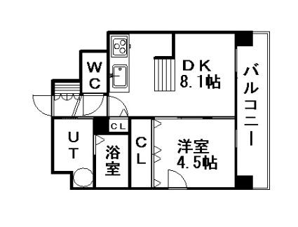 クレジデンス札幌・南4条[1LDK/32.5m2]の間取図