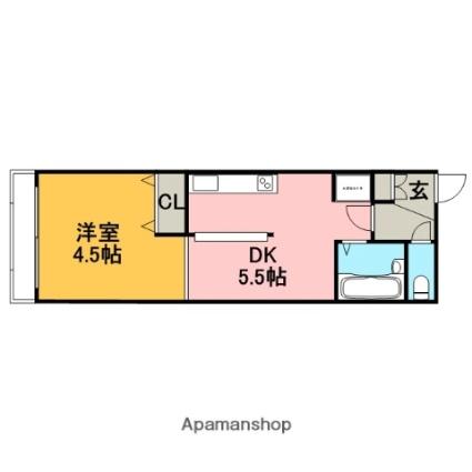 北海道札幌市中央区南六条西8丁目[1DK/24.9m2]の間取図
