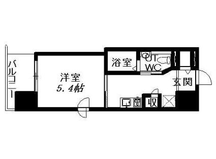 レジディア南1条[1K/20.03m2]の間取図