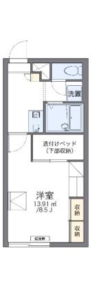 レオパレス三田C館[1K/23.18m2]の間取図