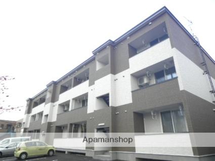 北海道登別市、鷲別駅徒歩8分の築2年 3階建の賃貸アパート