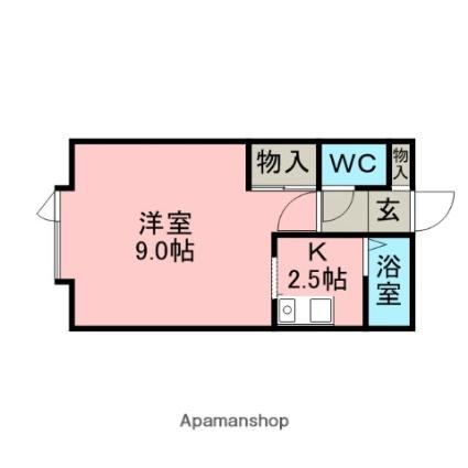 キャメルハウスⅢ[1K/23.73m2]の間取図