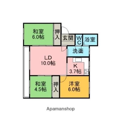 寿ハイツ新生[3LDK/71.5m2]の間取図