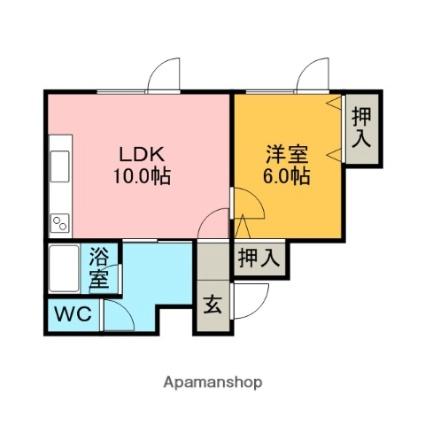 住吉アパート[1LDK/36.99m2]の間取図