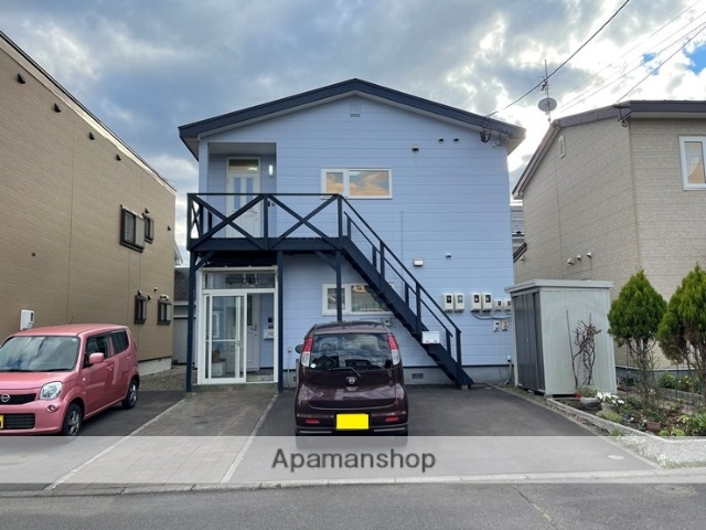 北海道登別市の築22年 2階建の賃貸アパート