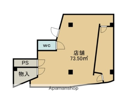 YSプラザビル[店舗/73.5m2]の間取図