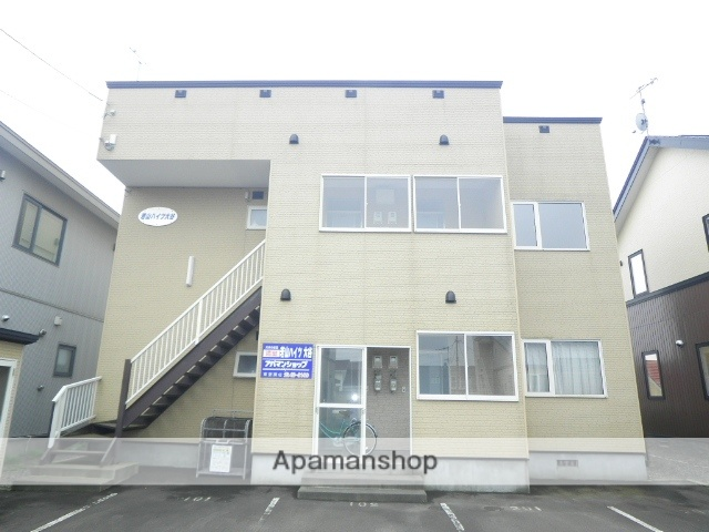 北海道登別市の築13年 2階建の賃貸アパート
