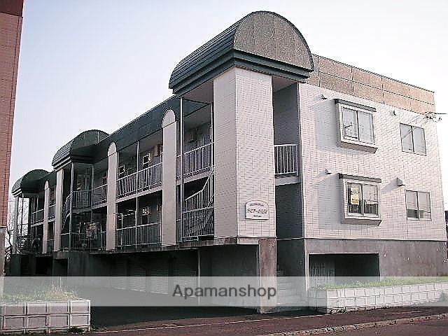 北海道石狩市、手稲駅中央バスバス25分花川北2条2丁目下車後徒歩2分の築24年 3階建の賃貸アパート