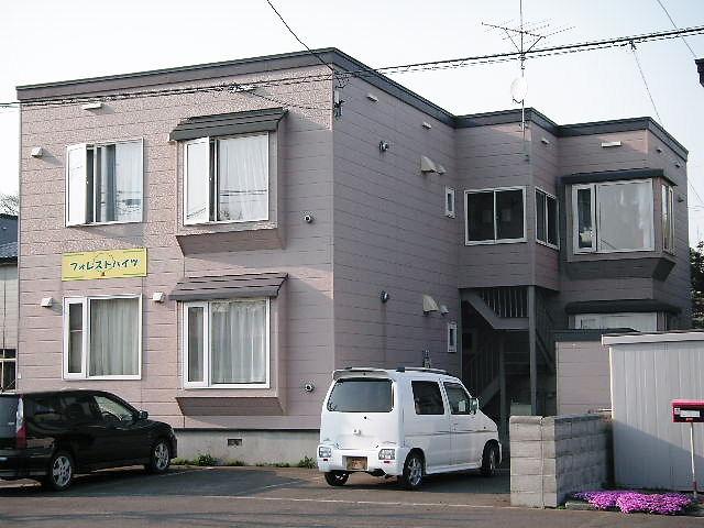 北海道石狩市、手稲駅中央バスバス33分花畔中央下車後徒歩1分の築20年 2階建の賃貸アパート