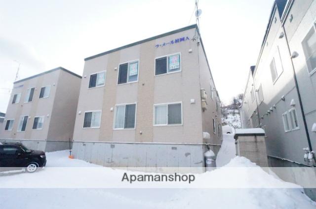 北海道小樽市、小樽駅JR北海道バスバス32分桂岡下車後徒歩4分の築10年 2階建の賃貸アパート