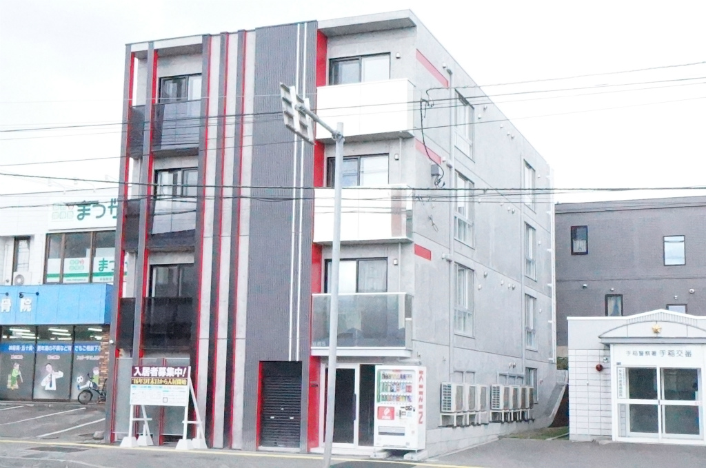 北海道札幌市手稲区、手稲駅徒歩10分の新築 4階建の賃貸マンション