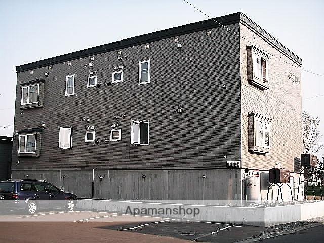 北海道石狩市、手稲駅中央バスバス33分花畔中央下車後徒歩8分の築17年 2階建の賃貸アパート