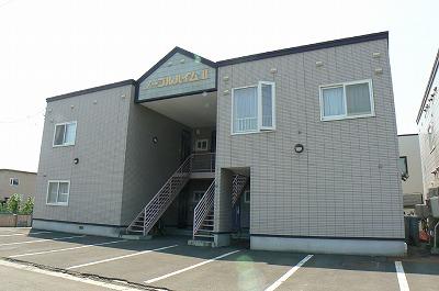 北海道岩見沢市の築22年 2階建の賃貸アパート