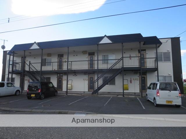 北海道滝川市、滝川駅中央バスバス12分3丁目下車後徒歩7分の築19年 2階建の賃貸アパート