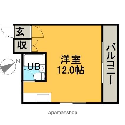 Tsumotoクリーンハイツ[1R/23.12m2]の間取図