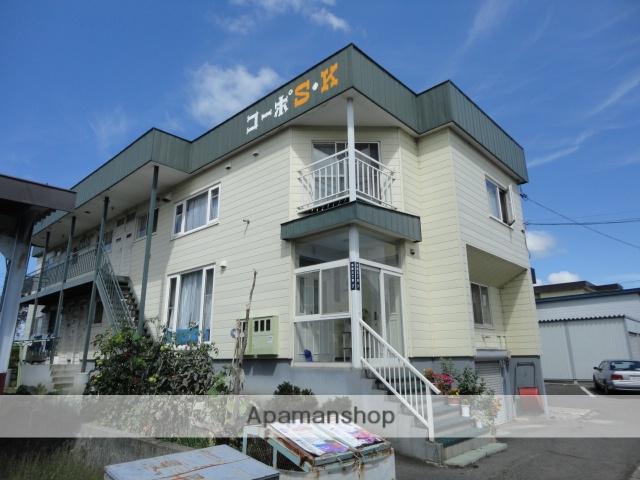 北海道滝川市、滝川駅徒歩11分の築21年 2階建の賃貸アパート