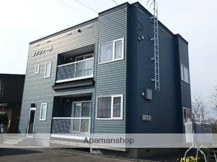 北海道砂川市、砂川駅中央バスバス15分砂川高校前下車後徒歩6分の築15年 2階建の賃貸アパート