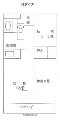 ふれ愛ホーム[2DK/58.3m2]の間取図