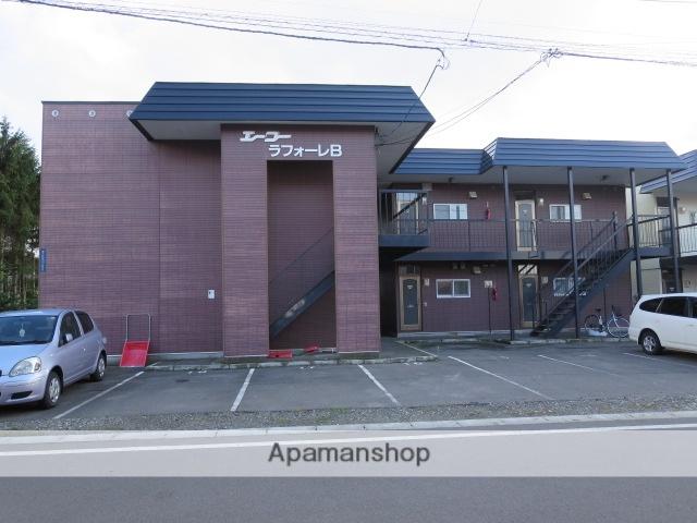 北海道砂川市、砂川駅中央バスバス6分南9条下車後徒歩3分の築18年 2階建の賃貸アパート