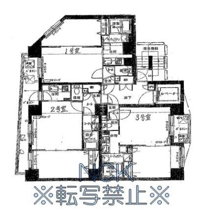 フォレスト円山[1LDK/37.21m2]の配置図