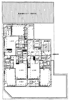 円山シャトー桂和大通館[1LDK/37.78m2]の配置図