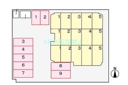OPUS512[1LDK/43.75m2]の配置図