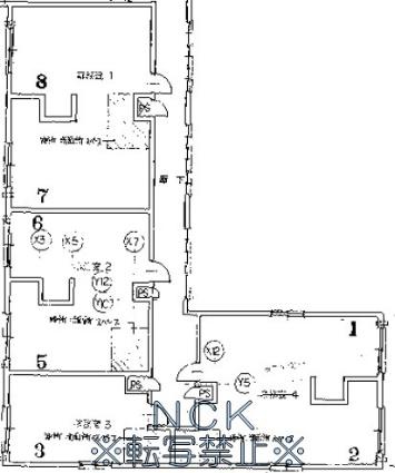 カトレアパークイレブン[1R/19.6m2]の配置図