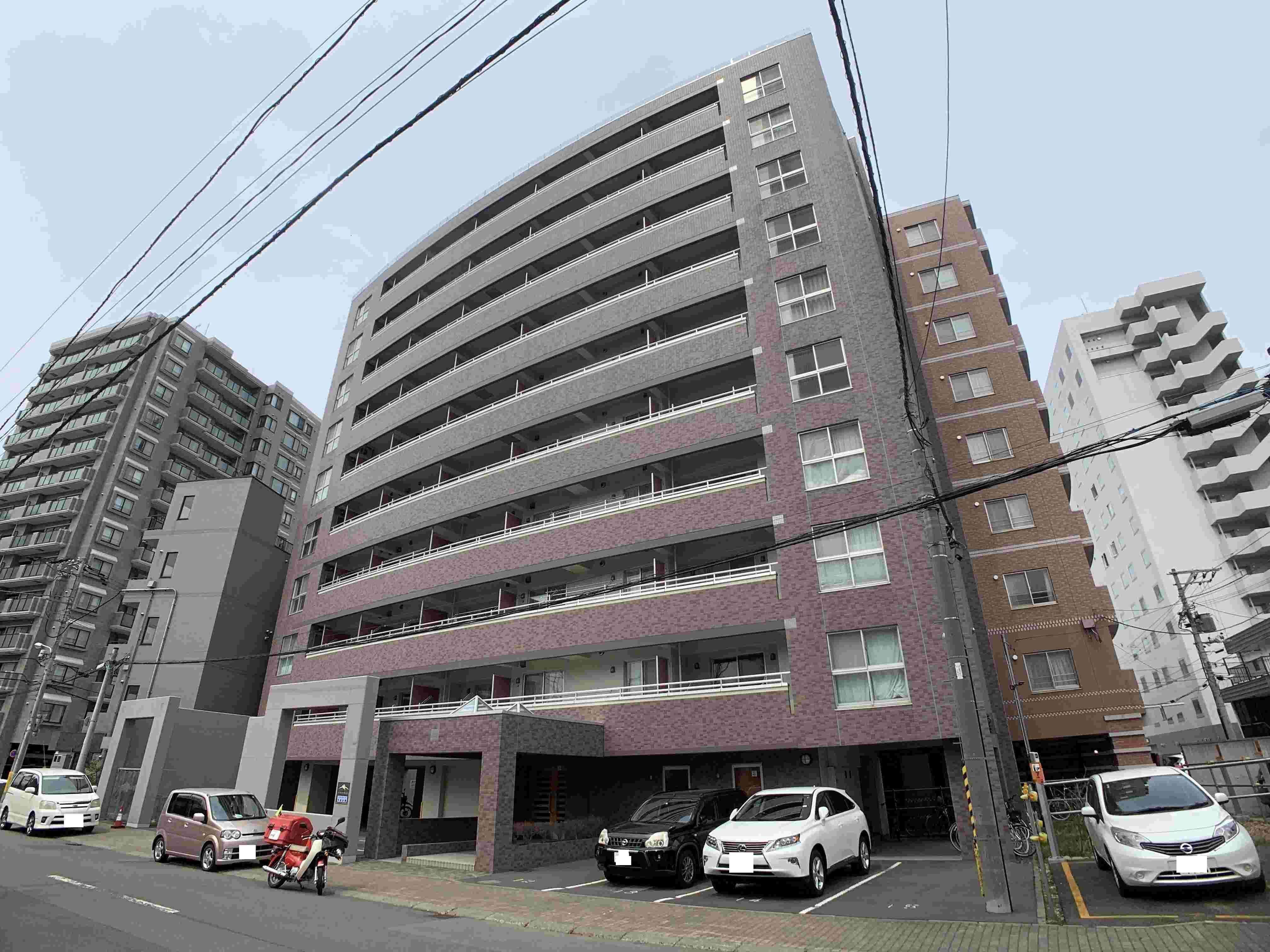 北海道札幌市中央区、中島公園駅徒歩5分の築17年 10階建の賃貸マンション