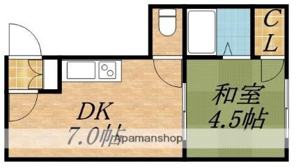 中神マンション[1DK/24m2]の間取図