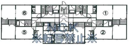 ハピネス北2条Ⅰ[1DK/35.6m2]の配置図