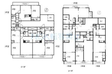 エステラ旭ヶ丘[1LDK/36.24m2]の配置図
