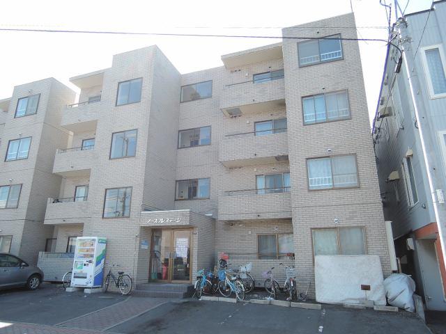 北海道札幌市中央区、電車事業所前駅徒歩5分の築27年 4階建の賃貸マンション