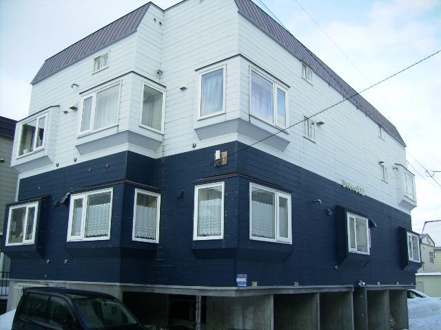 北海道札幌市北区、新川駅徒歩18分の築26年 2階建の賃貸アパート
