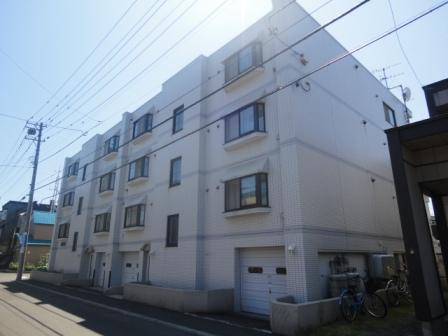 北海道札幌市西区、発寒中央駅徒歩9分の築25年 4階建の賃貸マンション