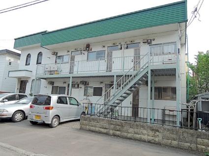 北海道札幌市中央区、石山通駅徒歩12分の築36年 2階建の賃貸アパート