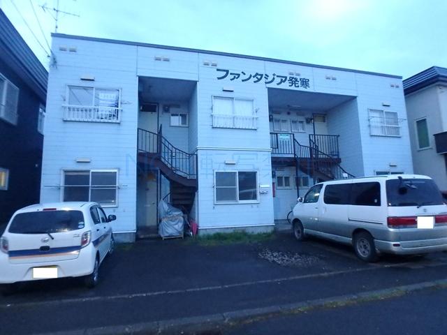 北海道札幌市西区、発寒中央駅JRバスバス9分稲山通下車後徒歩7分の築28年 2階建の賃貸アパート