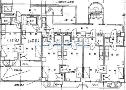 円山北町ハイム[1DK/29.68m2]の配置図