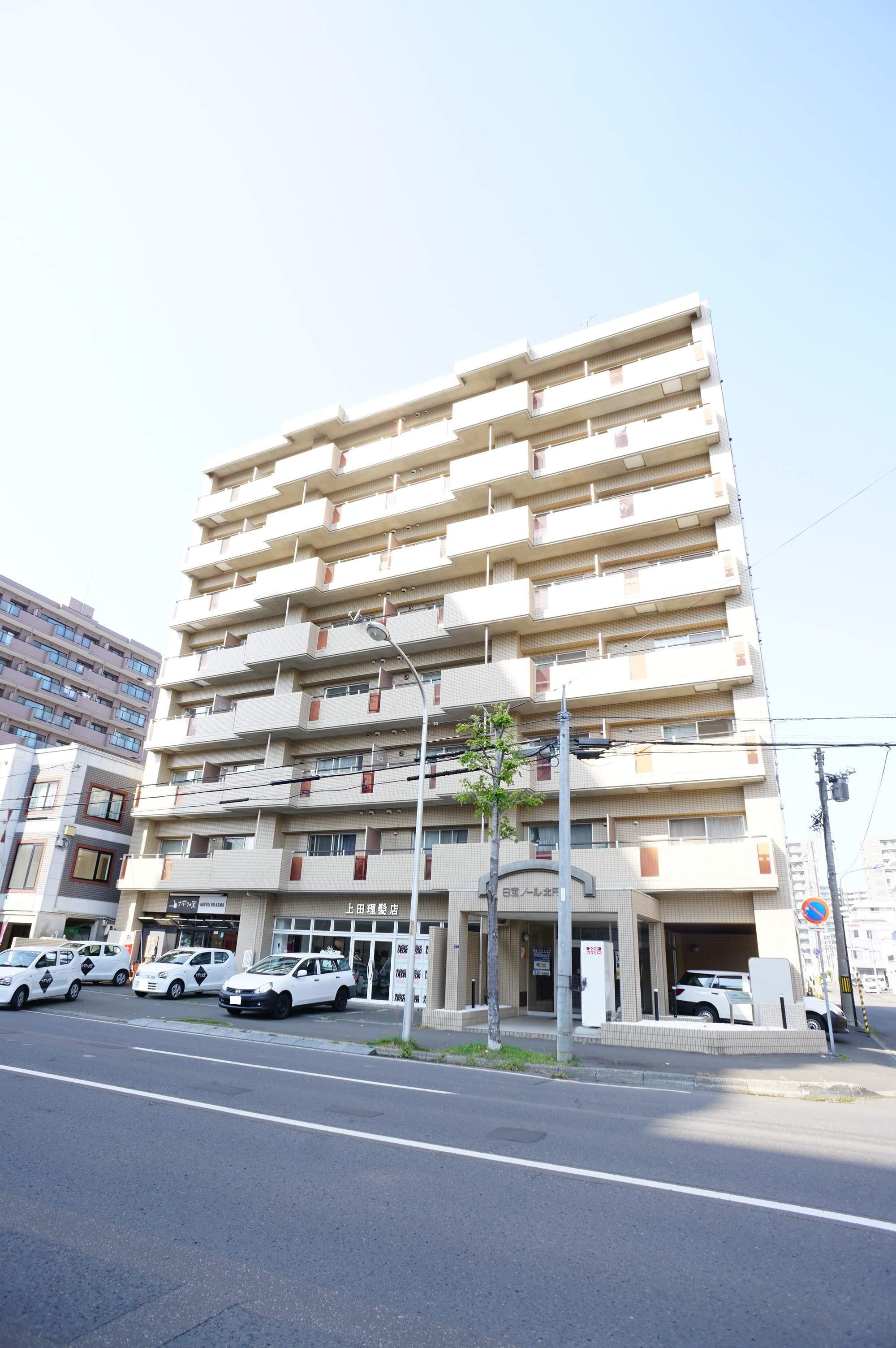 北海道札幌市中央区、二十四軒駅徒歩9分の築27年 8階建の賃貸マンション