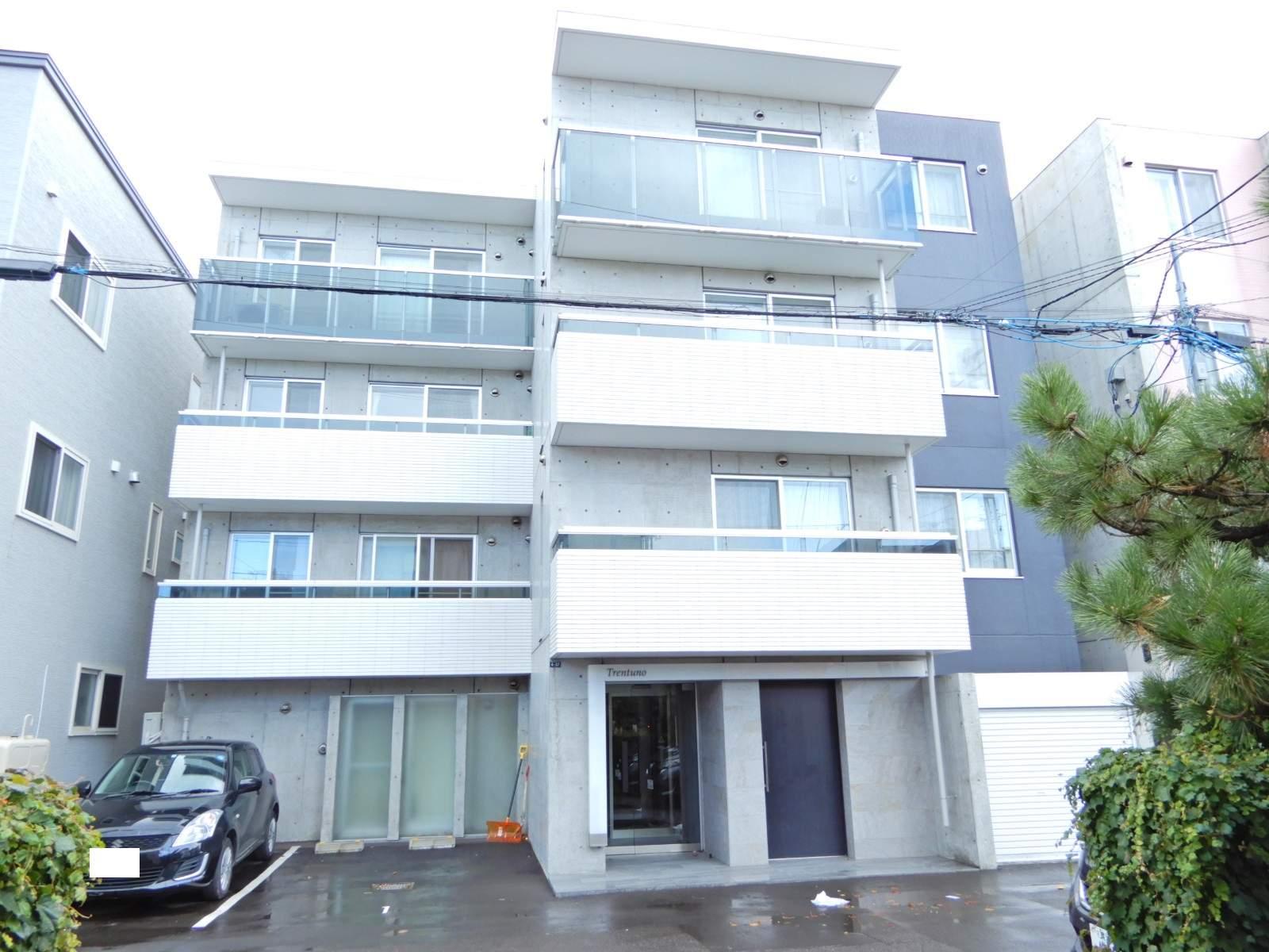 北海道札幌市西区、琴似駅徒歩9分の新築 4階建の賃貸マンション